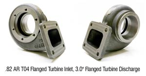 "T4 Flanged Tangential Housing with 3"" V-band Discharge (.82 A/R Only)"