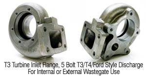 T3 Flanged with 5 bolt Standard T3/T4 Style