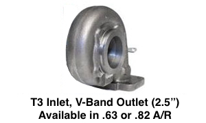 "T3 Inlet, V-Band Outlet (2.5"")"