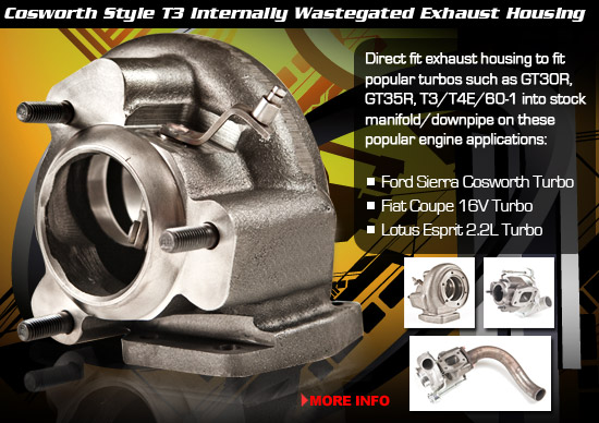 Cosworth Style T3 Internally Wastegated Exhaust Housing
