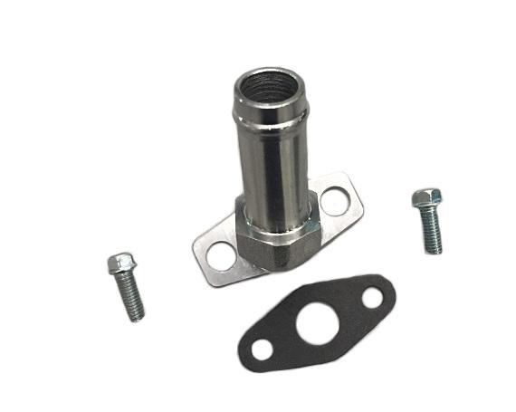 Quot barbed oil drain return flange adapter for