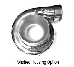 Optional Polished Compressor Housing:
