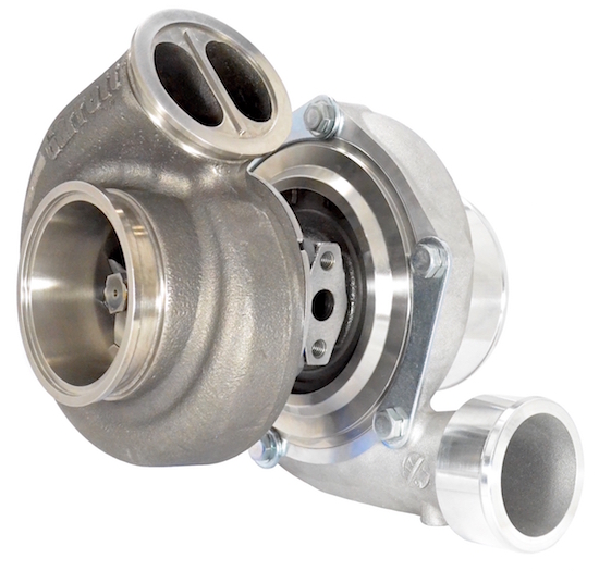 GEN2 - Garrett GTX3582R Turbo with .83 A/R Garrett Twin-Scroll V-Band Turbine Housing