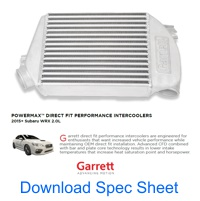 Download Garrett Spec Sheet