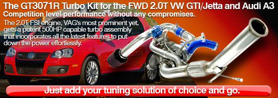 GT3071R Turbo kit for FWD 2 0T FSI, MKV VW Golf/GTI/Jetta and Audi